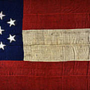 Original Stars And Bars Confederate Civil War Flag Print by Daniel Hagerman