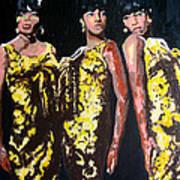 Original Divas The Supremes Art Print by Ronald Young