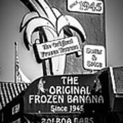 Original Frozen Banana Sign On Balboa Island Picture Art Print