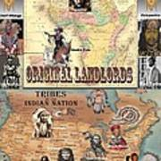 Original Landlords Poster African And Native American Art Print