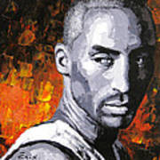 Original Palette Knife Painting Kobe Bryant Art Print