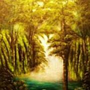 Hidden Falls-original Sold-- Buy Giclee Print Nr 27 Of Limited Edition Of 40 Prints  Art Print