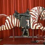 Original Zebra Carousel Ride Art Print