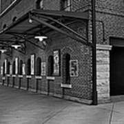 Oriole Park Box Office Bw Art Print