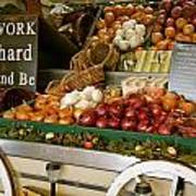 Work Hard And Be - Country Onion Cart Art Print