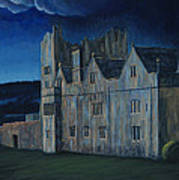 Ormonde Castle And Manor By Night Art Print