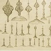 Ornamental Knobs Shaped As Domes Art Print