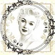 Ornamental Marilyn Art Print