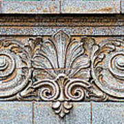 Ornamental Scrollwork Panel - Architectural Detail Art Print