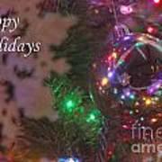 Ornaments-2096-happyholidays Art Print