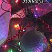 Ornaments-2136-happyholidays Art Print