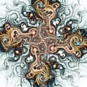 Ornate Cross Art Print by Anastasiya Malakhova