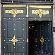 Ornate Door On Champs Elysees In Paris France Art Print