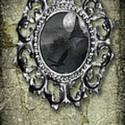 Ornate Metal Mirror Reflecting Church Art Print