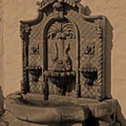 Ornate Wall Fountain Art Print
