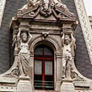 Ornate Window Of City Hall Philadelphia Art Print