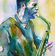 Ornette Coleman - Watercolor Portrait Art Print