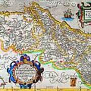 Ortelius Map Of Portugal Porvgalliae Geographicus Portugalliae Ortelius 1587 Art Print
