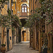 Orvieto Side Street Art Print by Lynn Andrews