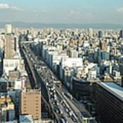 Osaka Cityscape Art Print