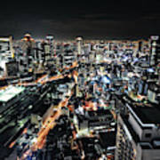 Osaka Night View Art Print