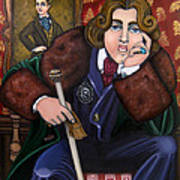 Oscar Wilde And The Picture Of Dorian Gray Art Print by Victoria De Almeida