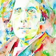Oscar Wilde Watercolor Portrait.1 Art Print