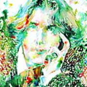 Oscar Wilde Watercolor Portrait.2 Art Print by Fabrizio Cassetta