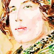 Oscar Wilde Watercolor Portrait.3 Art Print