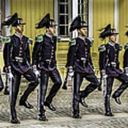 Oslo Royal Palace Guards Art Print