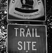 Oregon Trail Sign A Art Print