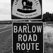 Barlow Road Cutoff Sign Art Print