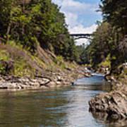 Ottauquechee River Flowing Through The Quechee Gorge Art Print