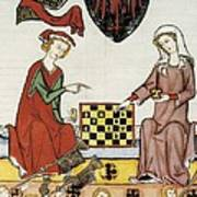 Otto Iv Of Brandenburg Playing Chess Art Print