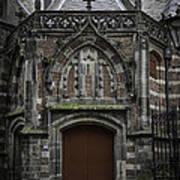 Oude Kerk Door Amsterdam Art Print
