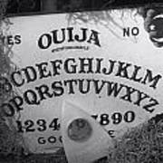 Ouija Board Queen Mary Ocean Liner Bw Art Print