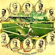 Our Baseball Heroes Print by Pg Reproductions