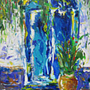 Our Blue Door Art Print by Khalid Alzayani