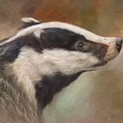 Our Friend The Badger Art Print
