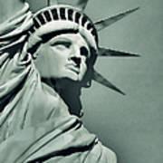 Our Lady Liberty - Verdigris Tone Art Print