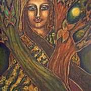 Our Lady Of The Shimmering Wildwood Art Print by Marie Howell Gallery