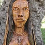 Our Lady Olive Wood Sculpture Art Print by Eric Kempson