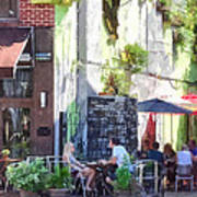 Outdoor Cafe Philadelphia Pa Art Print