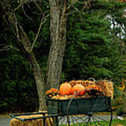 Outdoor Fall Halloween Decorations Art Print