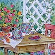 Outdoor Tea Art Print