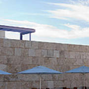 Outdoor Terrace At The Getty Center In Los Angeles Art Print