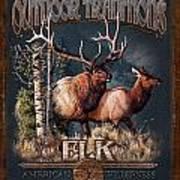 Outdoor Traditions Elk Art Print