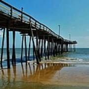 Outer Banks Pier South Nags Head 2 5/22 Art Print