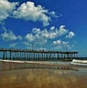 Outer Banks Pier South Nags Head 1 5/22 Art Print