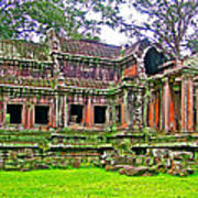 Outer Building Of Angkor Wat In Angkor Wat Archeological Park Near Siem Reap-cambodia  Art Print